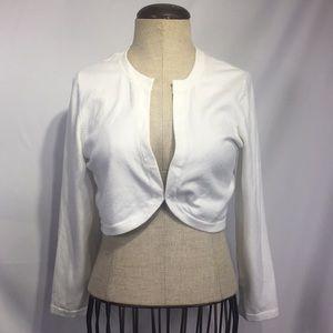 Lilly Pulitzer white shrug cardigan sweater sz L